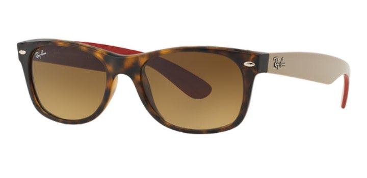 Ray Ban New Wayfarer Sunglasses RB2132 618185 Matte Havana