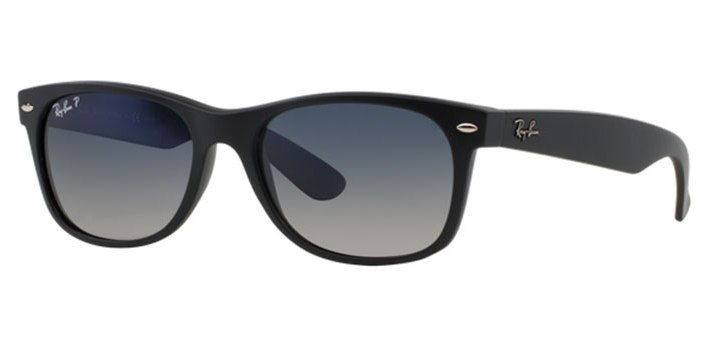Ray Ban Polarized New Wayfarer Sunglasses RB2132 601S78 Matte Black