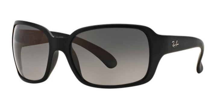 Ray Ban RB4068 Polarized Sunglasses 601SM3 Matte Black