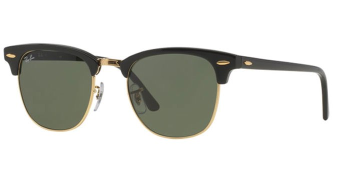 Ray Ban Clubmaster Sunglasses RB3016 W0365 Black