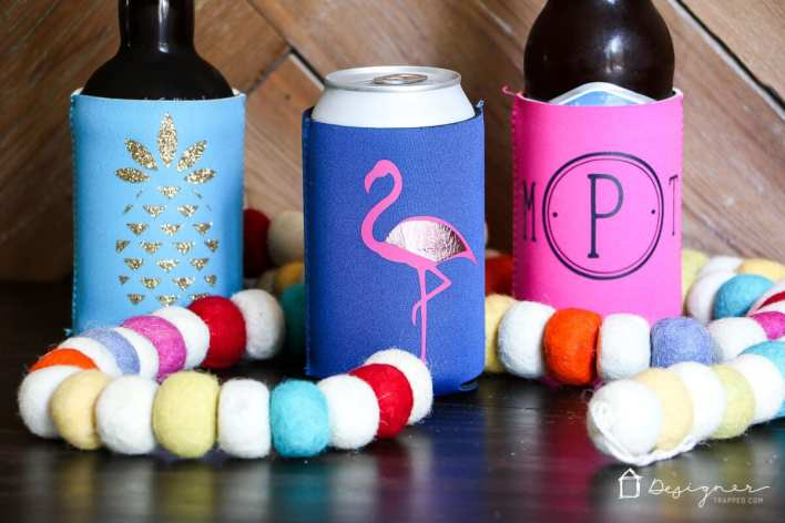 A Homemade Drink Koozie - Father's Day