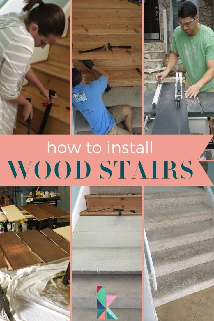 How To Install Wood Stairs In A Weekend | Installing Wood Floors On Stairs | Stair Tread | Stair Nosing | Carpeted Stairs | Vinyl Plank | Carpet