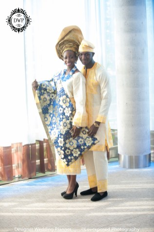 Nigerian Bride and Groom