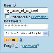 I'd like to use my usual password.