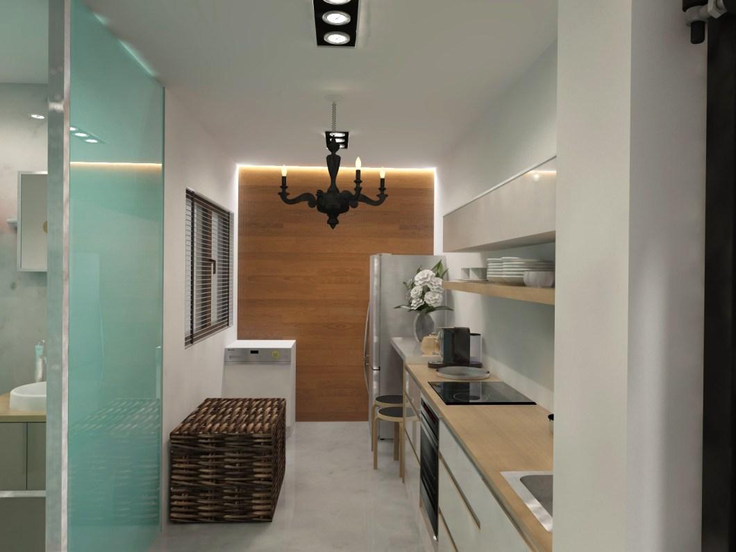 Hdb Fernvale River Walk 2 Room Apartment 47 Sqm Kitchen Hdri