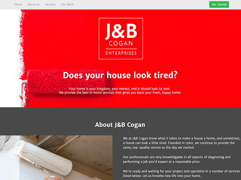 J&B Cogan Painting Website