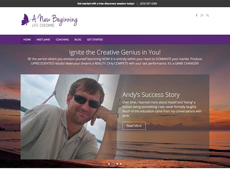 A New Beginning Website