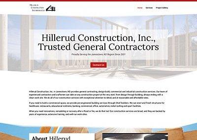 Hillerud Construction Website