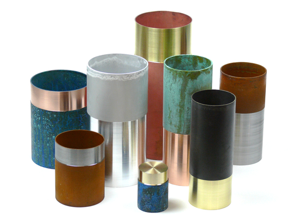 Lex Pott, Dutch designer, Design Days Dubai, oxidised copper, copper vases, copper pots