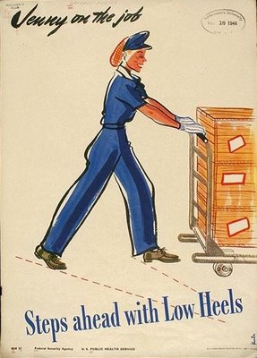 WWII propaganda poster to encourage the right type of clothing