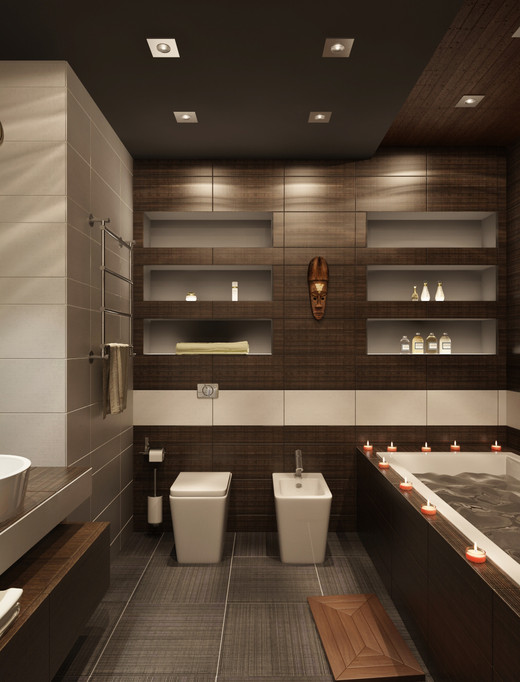 Дизайн коричневой ванной комнаты 70 фото фото Ванная комната