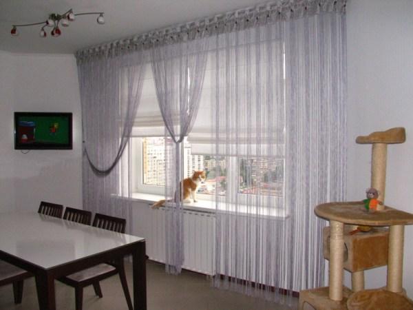Нитяные шторы фотогалерея дизайна окна. - Сделай сама ...