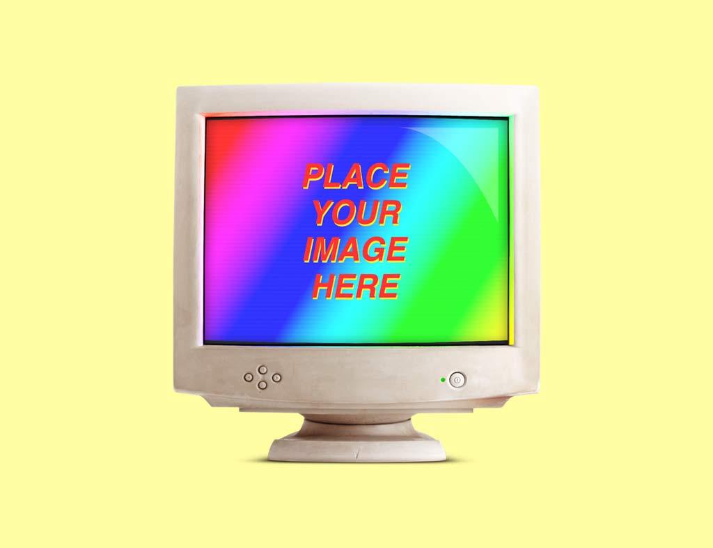 Free Set Of Retro Computer Devices Mockups Designhooks