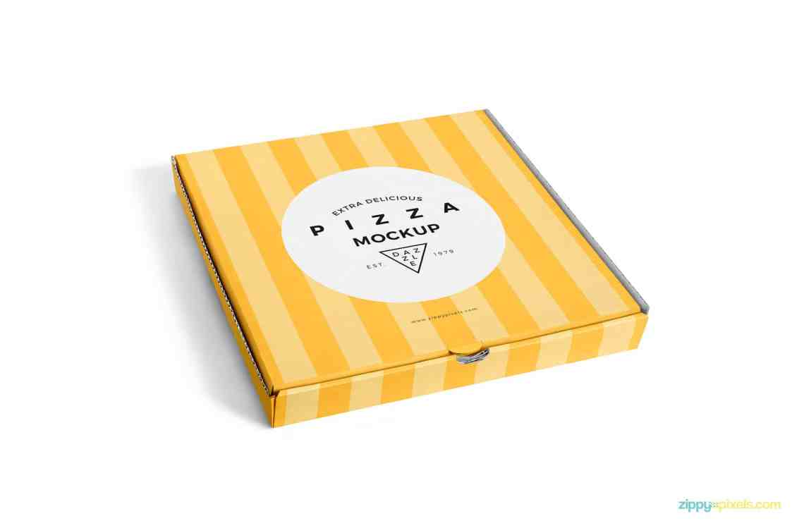 Download Pizza Box Packaging PSD Mockup Download - DesignHooks