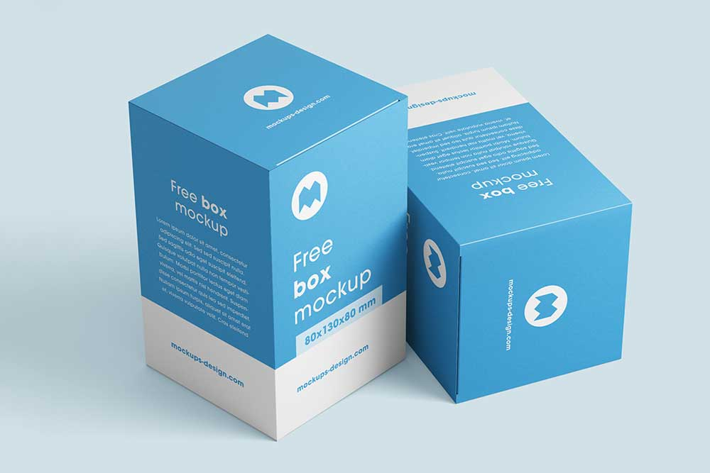 Download Download Free Box Mockups in PSD - Designhooks