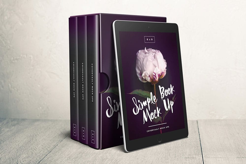 Download Download This Free Box Set Mockup with eReader - Desinghooks