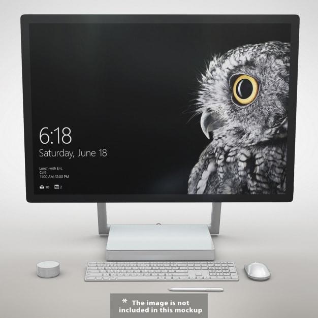 Free Minimalist Monitor Mockup In Psd Designhooks