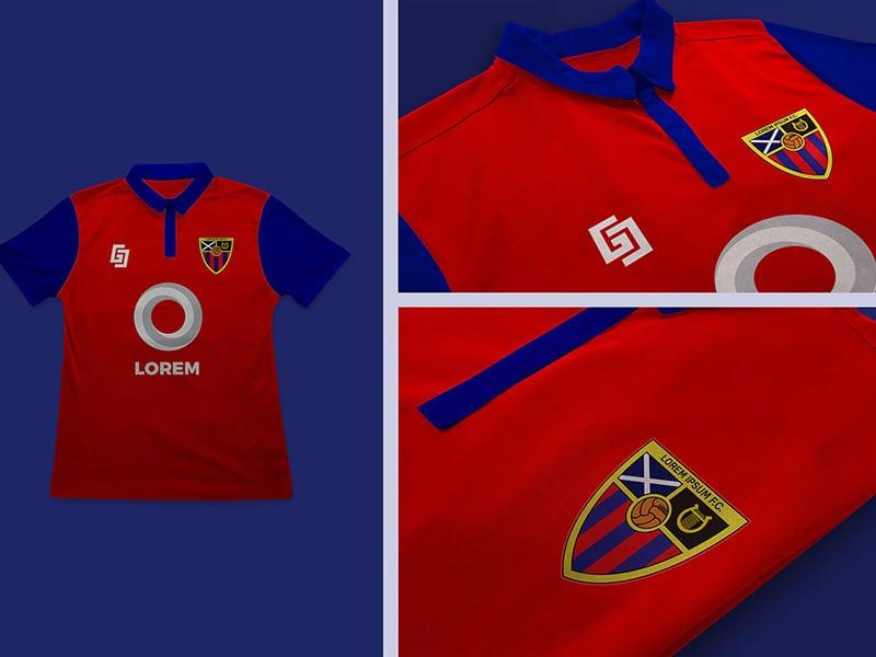 Free Football Jersey Design Mockup in PSD - DesignHooks