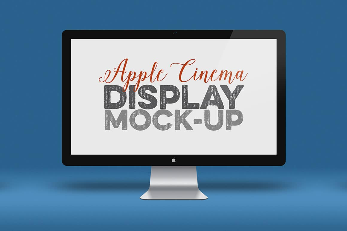 Free Apple Screen Cinema Display Mockup In Psd Designhooks