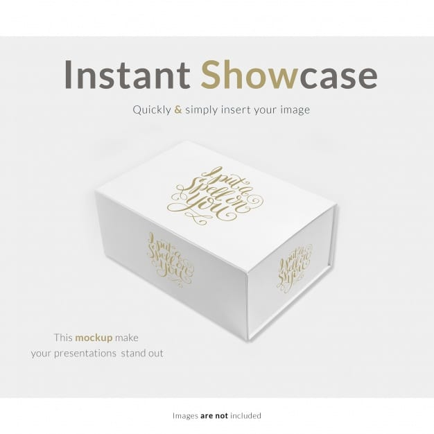 Download Free Elegant White Gift Box Mockup in PSD - DesignHooks
