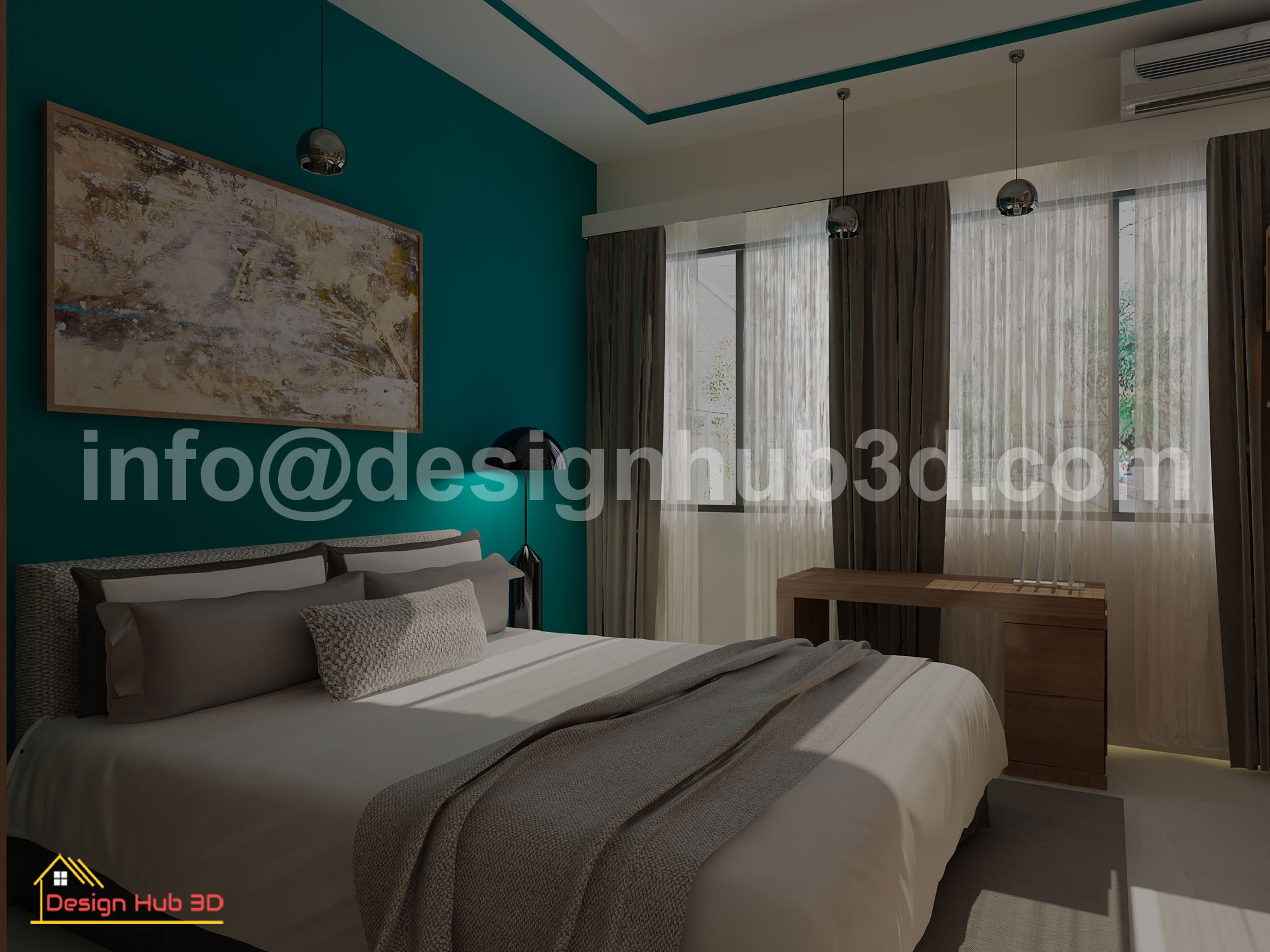 Designhub3d-home decor, master bed, interior design