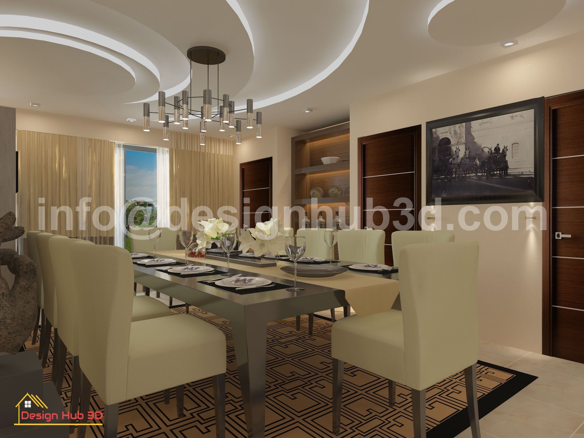 Design Hub 3D - Dining interior design