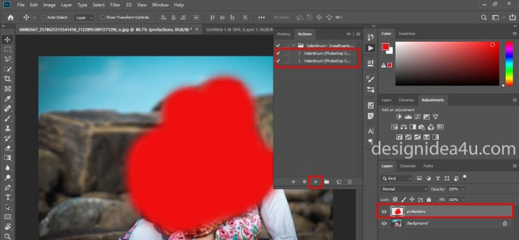 Love Heart Photoshop Action Free Download - Free Photoshop Action