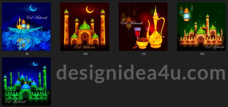 Eid Mubarak Background Vector Bundle Free Download