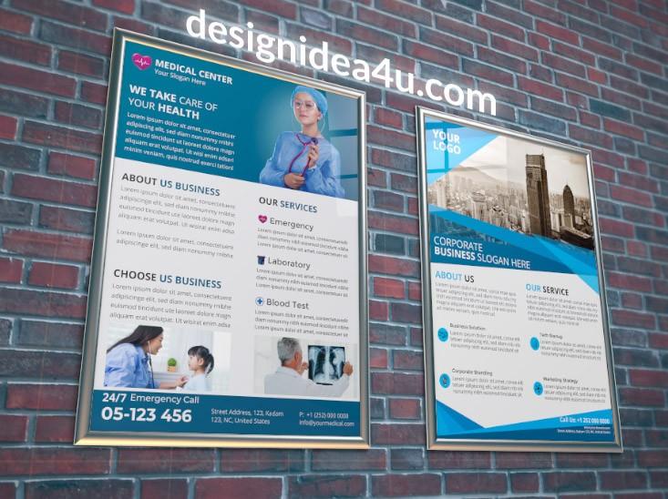 Wall Poster Mockup Free Download - Free Mockups