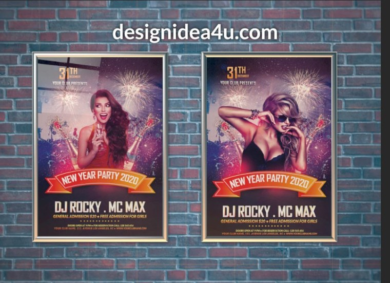Wall Poster Mockup Free PSD Template
