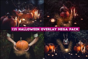 125 Halloween Photo Overlay Mega Pack Free Download