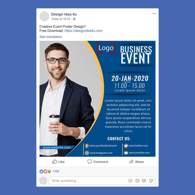 Creative Event Poster Design Template Free PSD