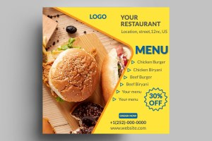 Customizable Restaurant Menu Design Free PSD Templates