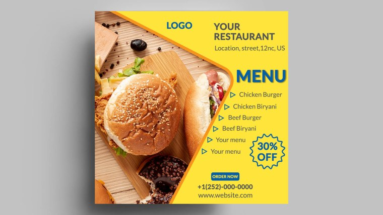 Customizable Restaurant Menu Design Free PSD Templates