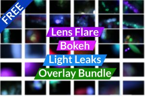 Lens Flare - Bokeh - Light Leaks Overlay Bundle Free Download