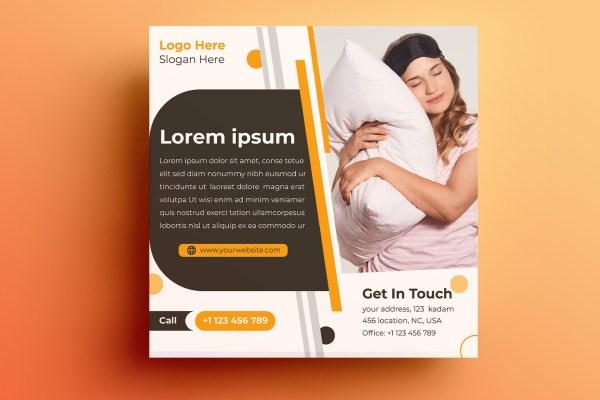 Mattress And Pillow Design Template Free Download