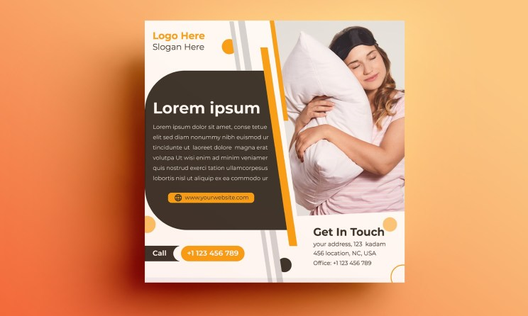 Mattress And Pillow Design Template Free Download
