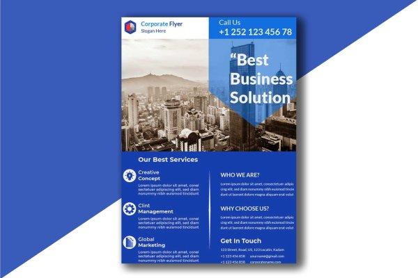 Customizable Modern Corporate Free Flyer Template