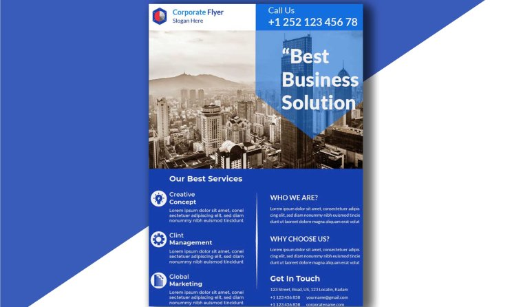 Customizable Modern Corporate Free Flyer Template