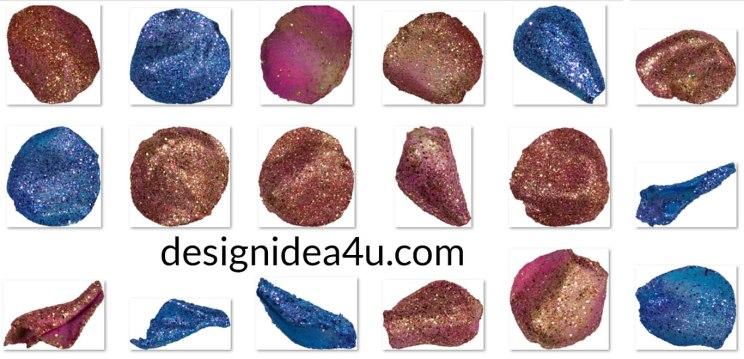 Glitter Petals Overlays Bundle, Blue and Pink Petals Free Download