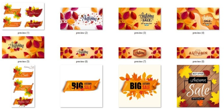 Best 34 Autumn Poster And Sale Banner For Graphic Designer