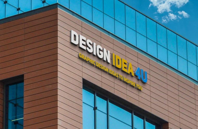 FREE Realistic 3D Building Logo PSD Mockups