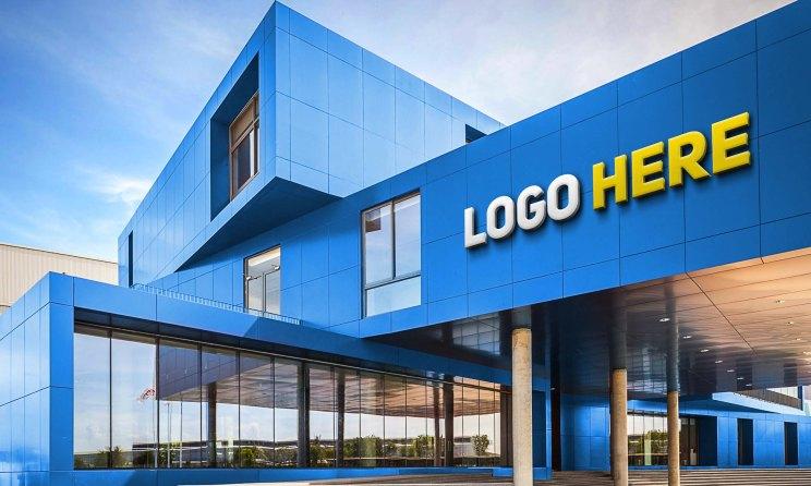 Free Building Logo Mockup PSD Template