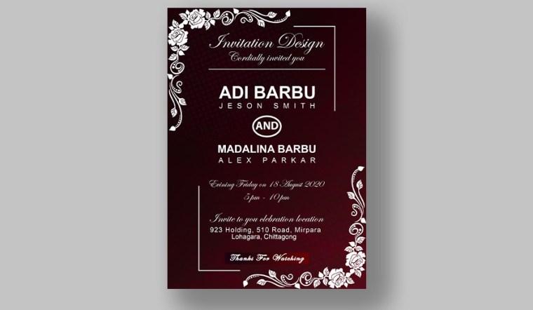 Best 3 Luxury Wedding Invitation Card Design Free PSD Templates