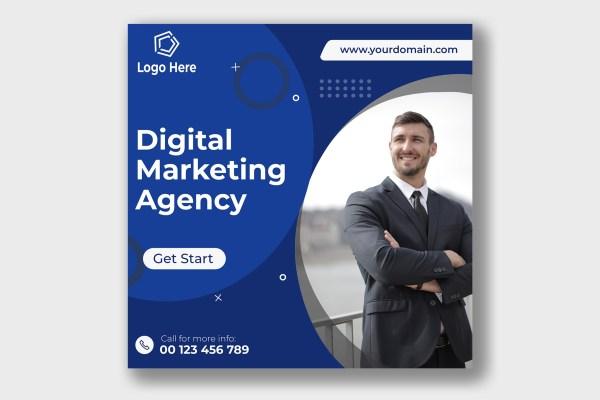 Digital business marketing social media post template | Freepik Design
