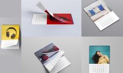 FREE Top 5 Calendar Design 2021 Mockup PSD Template
