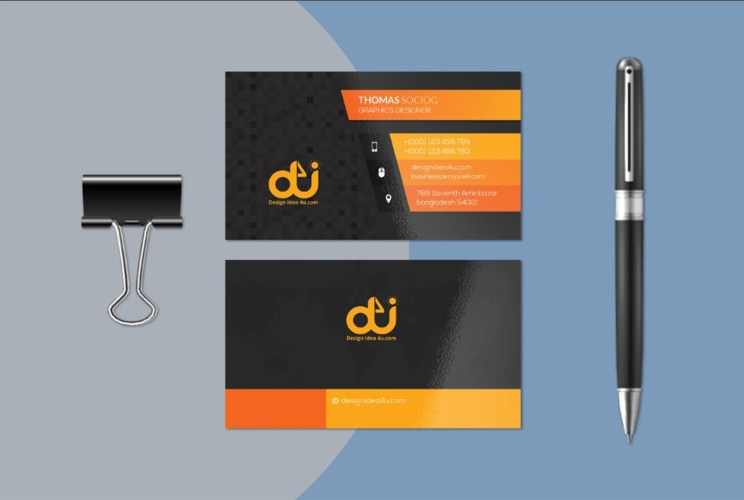 Free PSD - Business Card Mockup Template