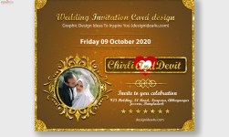 Wedding Invitation Card Design PSD Template Free Download