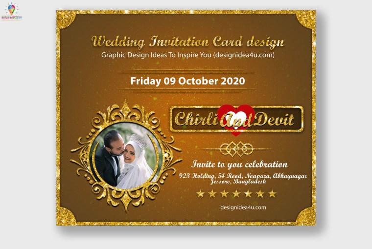 Wedding Invitation Card Design PSD Template Free Download