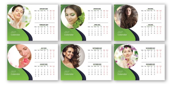 Free Download Salon and Spa Marketing 2021 Calendar Template